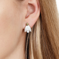 Snowdrop Stud Earrings with Clip-on Studs