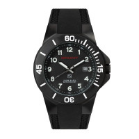 The Tough Watch, Black Dial, Case & Bezel, Silicon Strap