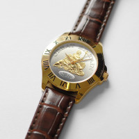 Great Britain Watch Gents Brown Leather Strap