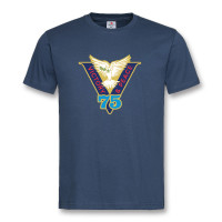 VICTORY & PEACE 75 NAVY BLUE T-SHIRT