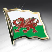 Welsh Flag Lapel Badge