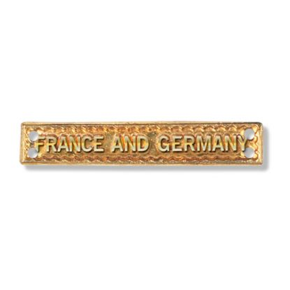 CLASP BRASS. FRANCE AND GERMANY MEDAL BAR FULL SIZE