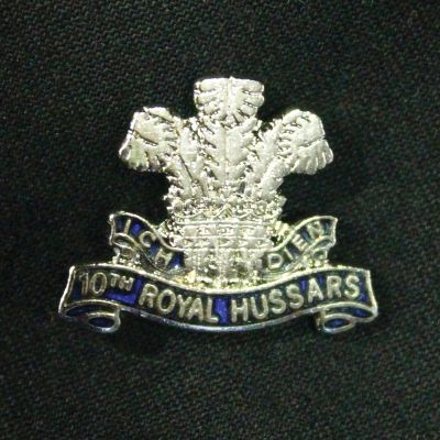 10th Royal Hussars Lapel Badge