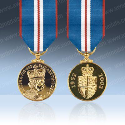 Queens Golden Jubilee 2002 Full Size Medal Loose