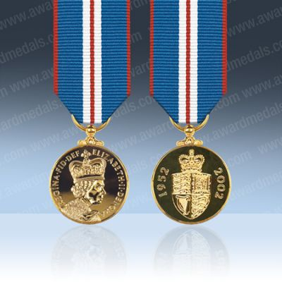 Queens Golden Jubilee 2002 Miniature Medal Loose