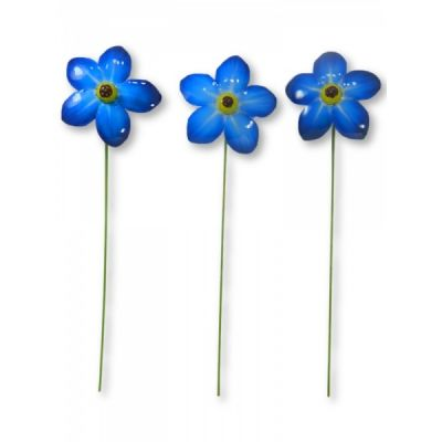 Hand crafted Metal Forget Me Nots Set of Six