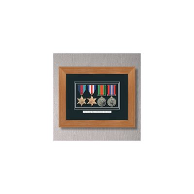 Light Oak WWII Frame With Medals