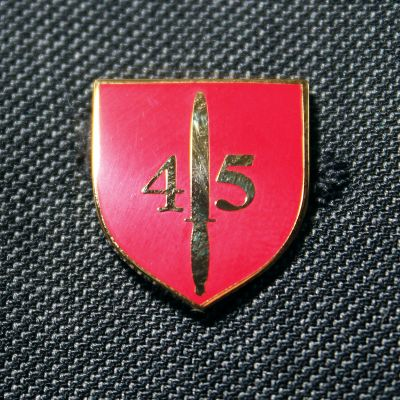 45 Commando RM Lapel Badge