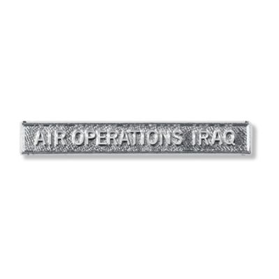 Air Ops Iraq Clasp Full Size With Pin