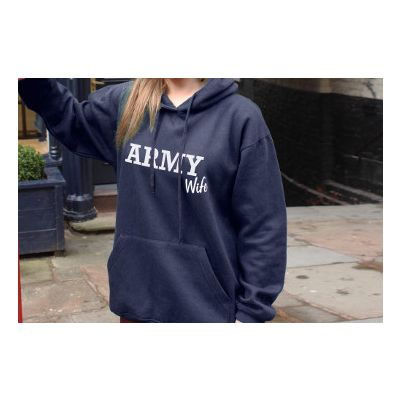 ARMED FORCES HOODIES BLUE / NAVY WIFE / XX LARGE