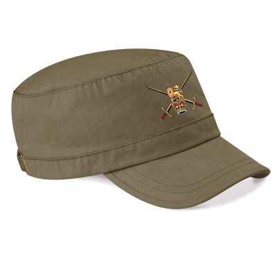 Printed Military Cap Khaki