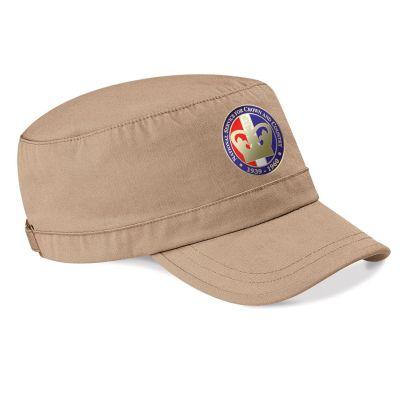 Printed Military Cap Pebble