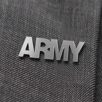 Army Nickel Lapel Badge