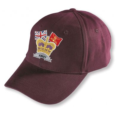 Crown & Country Embroidered Burgundy Baseball Hat