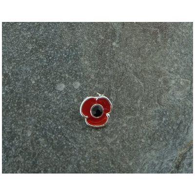 Poppy Lapel Pin (Silver Finish)