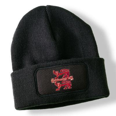 Normandy Black Acrylic Beanie Hat