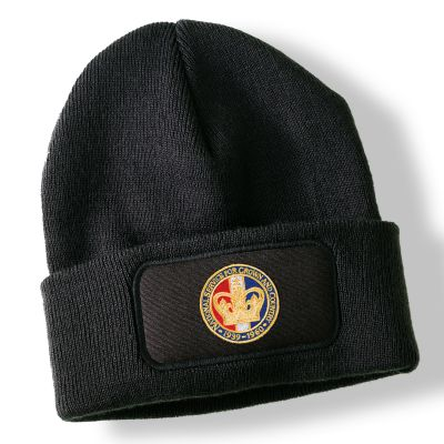 National Service Crown Black Acrylic Beanie Hat