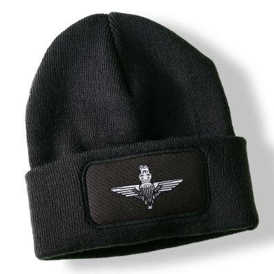 Parachute Regiment Black Acrylic Beanie Hat