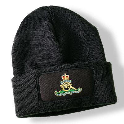 Royal Artillery Black Acrylic Beanie Hat