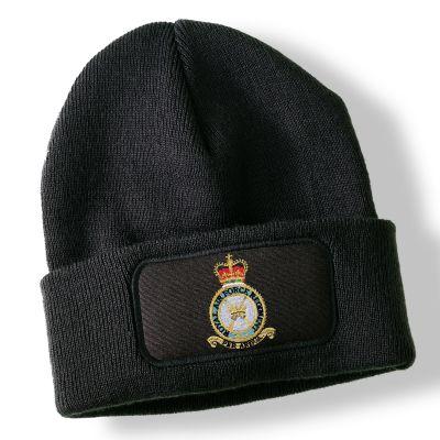 Royal Air Force Regiment Black Acrylic Beanie Hat
