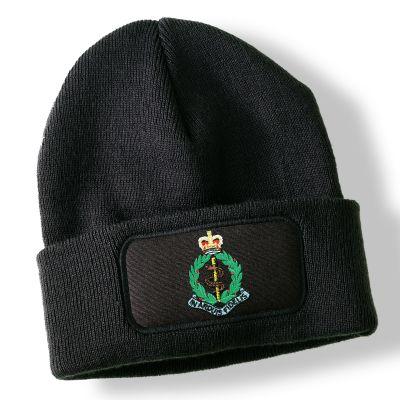 Royal Army Medical Corps Black Acrylic Beanie Hat