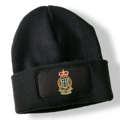 Royal Army Ordnance Corps Black Acrylic Beanie Hat
