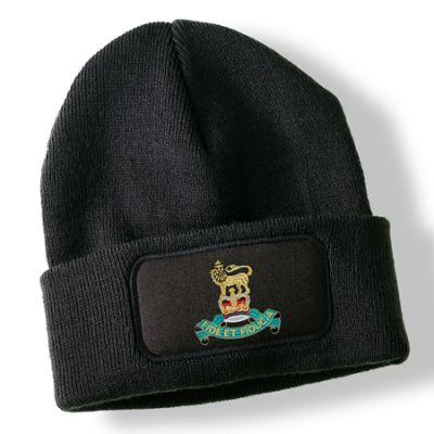Royal Pioneer Corps Black Acrylic Beanie Hat