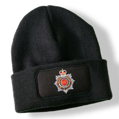 Royal Army Service Corps Black Acrylic Beanie Hat