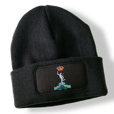 Royal Signals Black Acrylic Beanie Hat