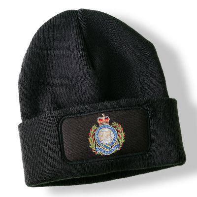 Royal Engineers Black Acrylic Beanie Hat