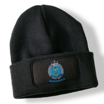 Royal Observer Corps Black Acrylic Beanie Hat