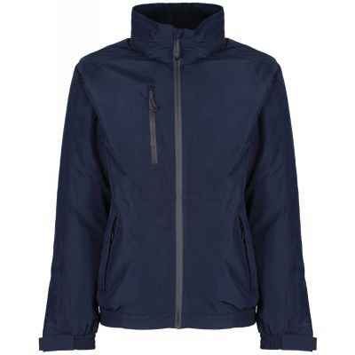 Crown & Country Regatta Honestly Made Recycled Bomber Jacket Navy Blue
