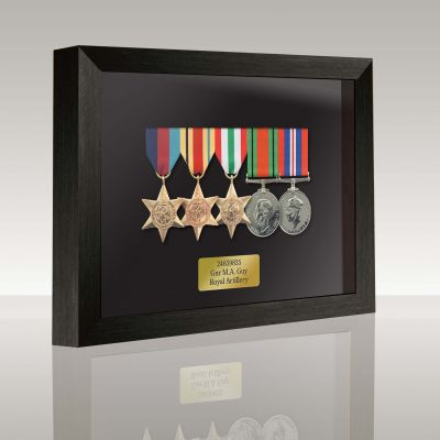 Medal Box Black Stain For 4+ Medals