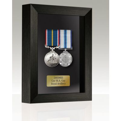 Medal Box Black Stain For 2-3 Medals