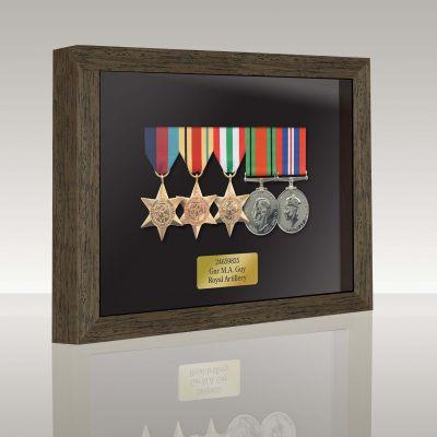 Medal Box Dark Oak For 4+ Medals