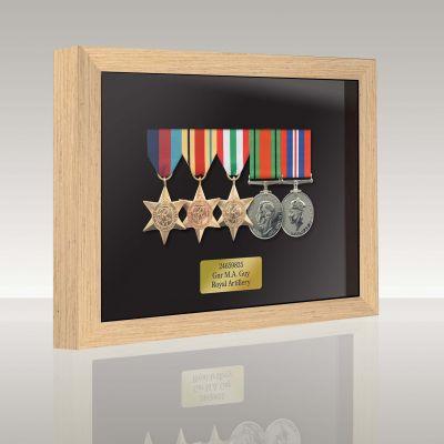 Medal Box Light Oak For 4+ Medals