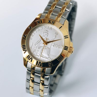 Britannia Coinwatch Gold Case Two-toned Bracelet
