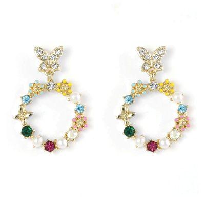 Floral Circle Earrings
