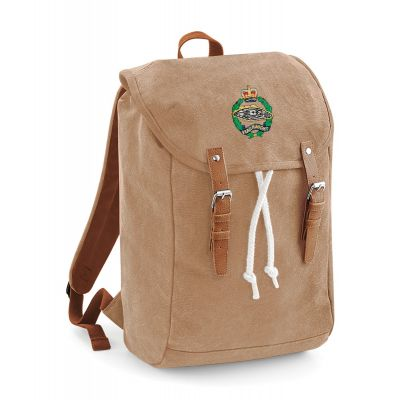 Personalised Vintage Canvas Rucksack             Available in 5 Colours