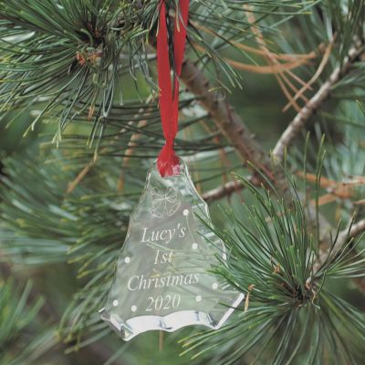 Tree Crystal Glass Christmas Decoration