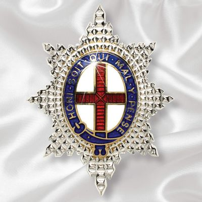 Coldstream Guards Sweetheart Brooch Silver