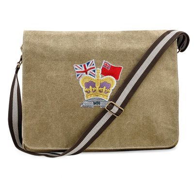 CROWN & COUNTRY VINTAGE CANVAS DESPATCH BAG