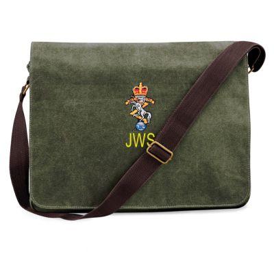 Personalised Vintage Canvas Despatch Bag