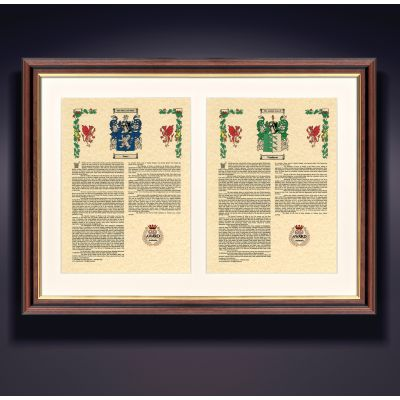 Double Surname History Framed