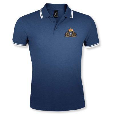 Double Tipped Polo Shirt Navy/White
