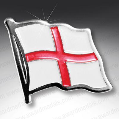 English Flag Lapel Badge