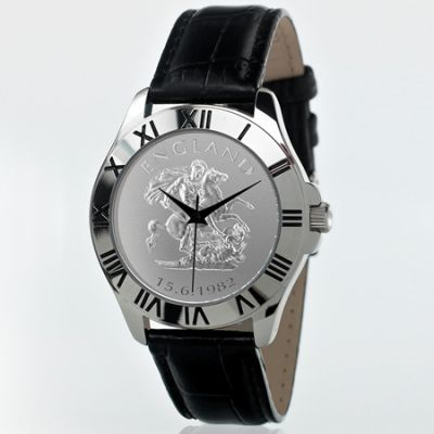 Patriot Watch Black Leather ENGLISH