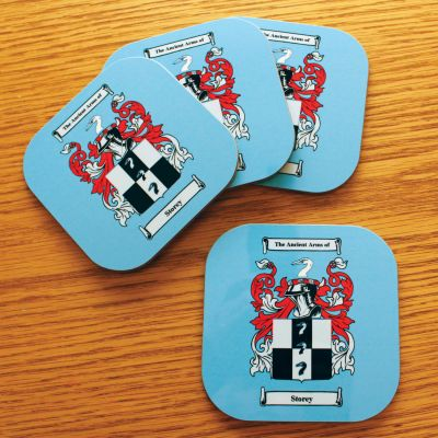 Set Of Four Personalised Coasters