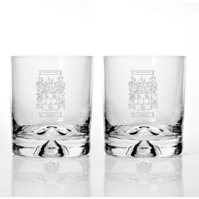 Presentation Set of 2 Family Crest Glass Tumblers