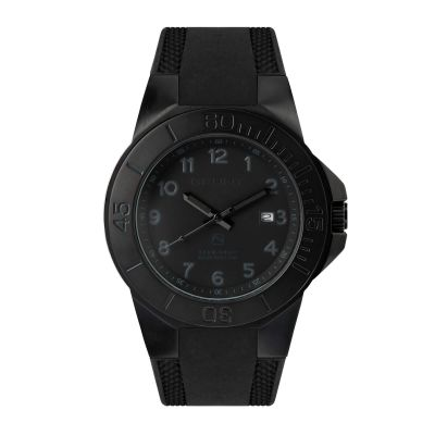 GBAR The Tough Watch, Blackout Dial, Case & Bezel, Silicon Strap